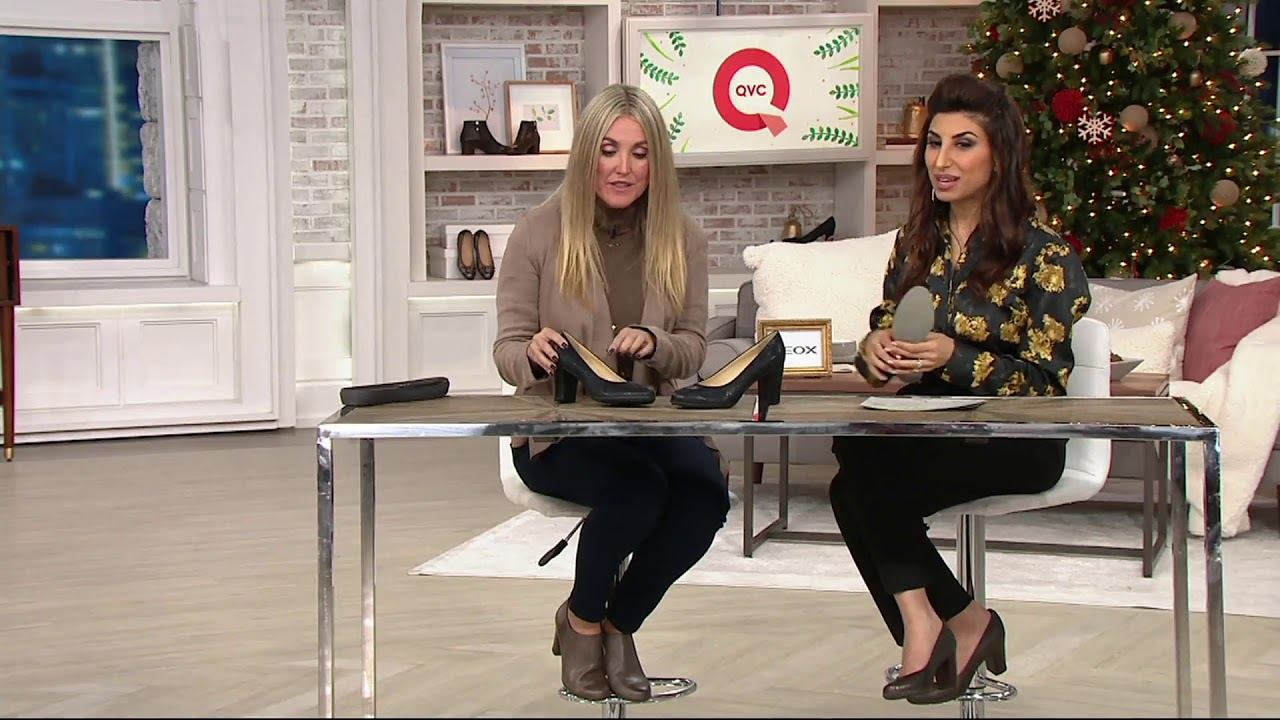 GEOX Leather Block Heel Pumps - Annya on QVC - YouTube