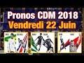 PRONOS Vendredi 22 Juin, Coupe Du Monde 2018 : Brésil Costa Rica, Nigéria Islande et Serbie Suisse !