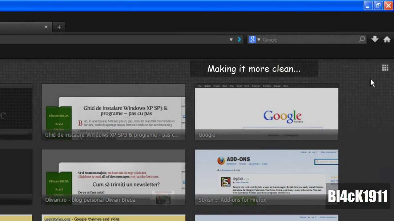 Firefox & Google Homepage - Dark Theme - YouTube