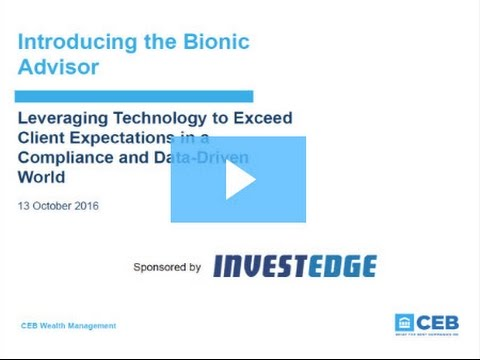 Introducing the Bionic Advisor