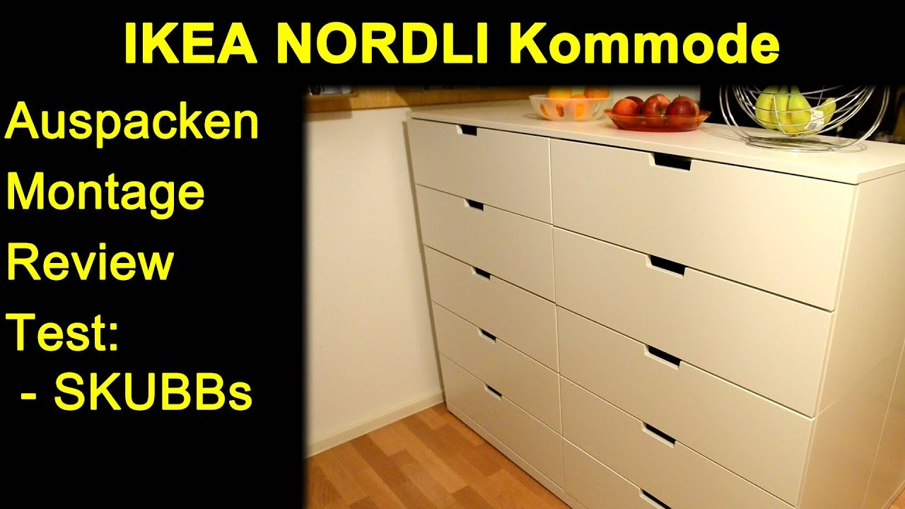 Ikea Nordli Kommode Auspacken Montage Zusammenbau Review Und