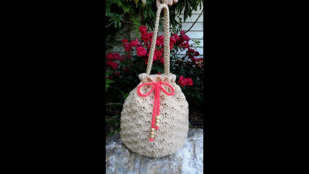 Crochet Shell Stitch Purse Handbag TUTORIAL DIY purse Fun crochet bag  YouTube