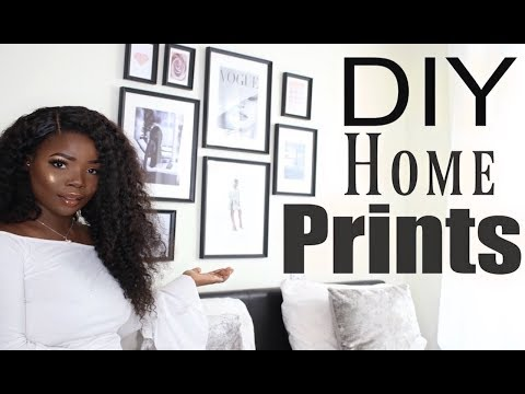 DIY Room Decor Wall Art Frames | MsDebDeb