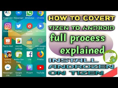 How to install androzen store on tizen| z1,z2,z3,z4|convert tizen to android|full process|new tpk|