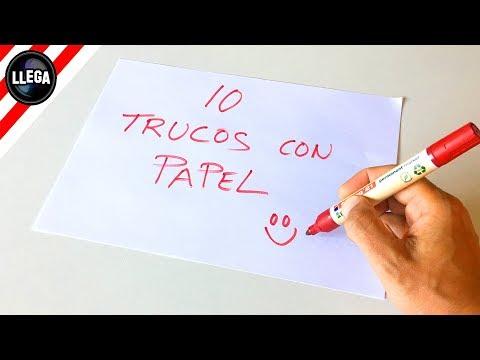 10 TRUCOS INCREÍBLES CON PAPEL!