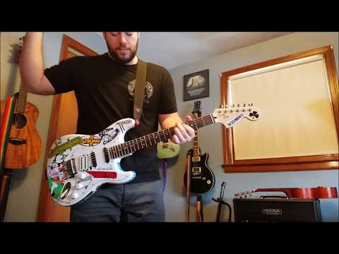 Blink 182 - Carousel Guitar Cover with Sticker Strat