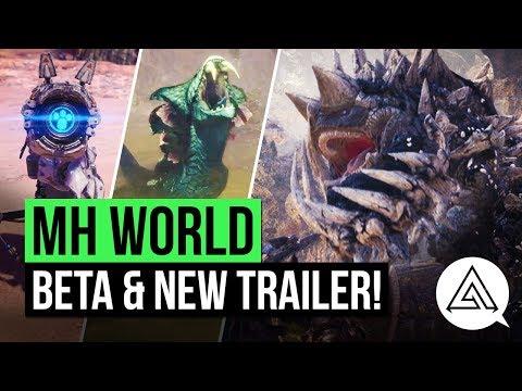 Monster Hunter World | Beta Announced + New Map, Monsters, Armour & More!
