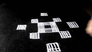 Padi kolam -  rangoli designs with lines for  Friday festivals - Ugadi rangoli