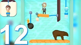 Rescue Cut - Rope Puzzle - Gameplay Walkthrough Part 12 All Levels 301-334 (Android Gameplay)