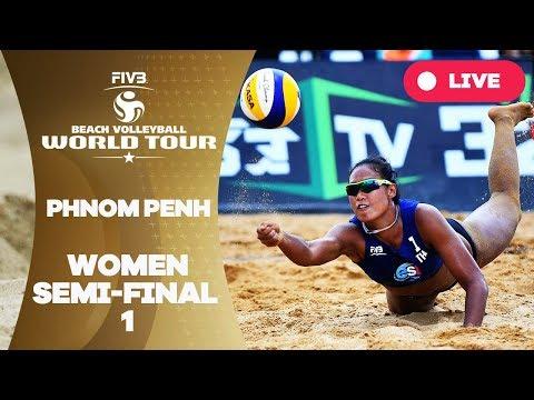 Phnom Penh - 2018 FIVB Beach Volleyball World Tour - Women Semi Final 1