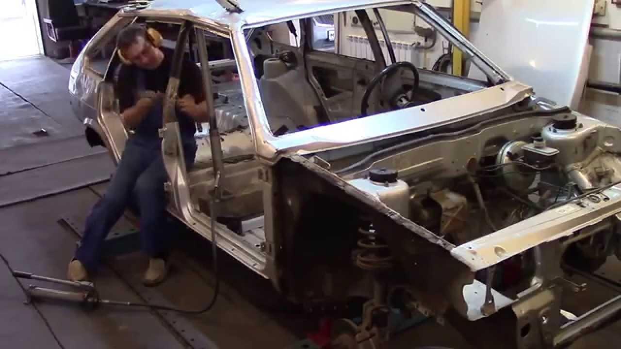 ВАЗ 2109 перевертыш, часть 1.Ремонт кузова