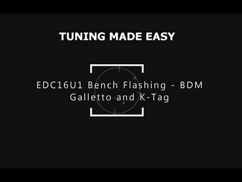 EDC16U Flashing (Tuning)with K Tag and Galletto - VAG PPD Tuning