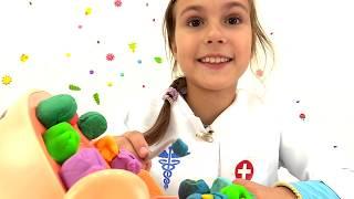 Игры для детей. Зелены зубы для Зубастика из Плей До