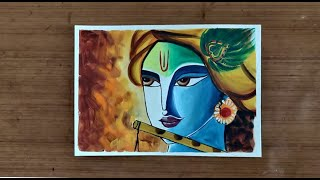 How to make Shri Krishna Acrylic Painting | Relaxing | Art Lesson