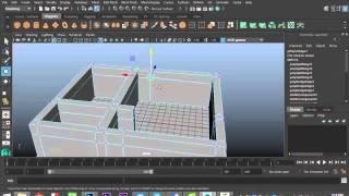 Maya 2016 tutorial : House modeling basics