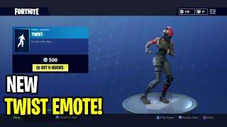 "*NEW* ""TWIST"" EMOTE! - Fortnite Battle Royale NEW Daily Item Shop (TWIST NEW DANCE/EMOTE)"