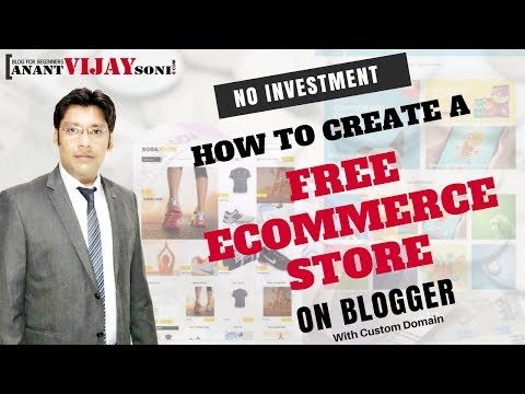 How to Create a Free eCommerce Site in Blogger - 동영상