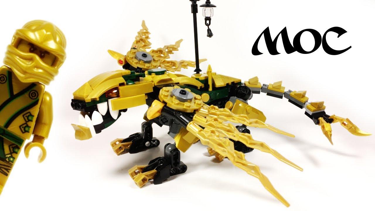 Lego Ninjago Lloyd S Golden Dragon Moc Youtube