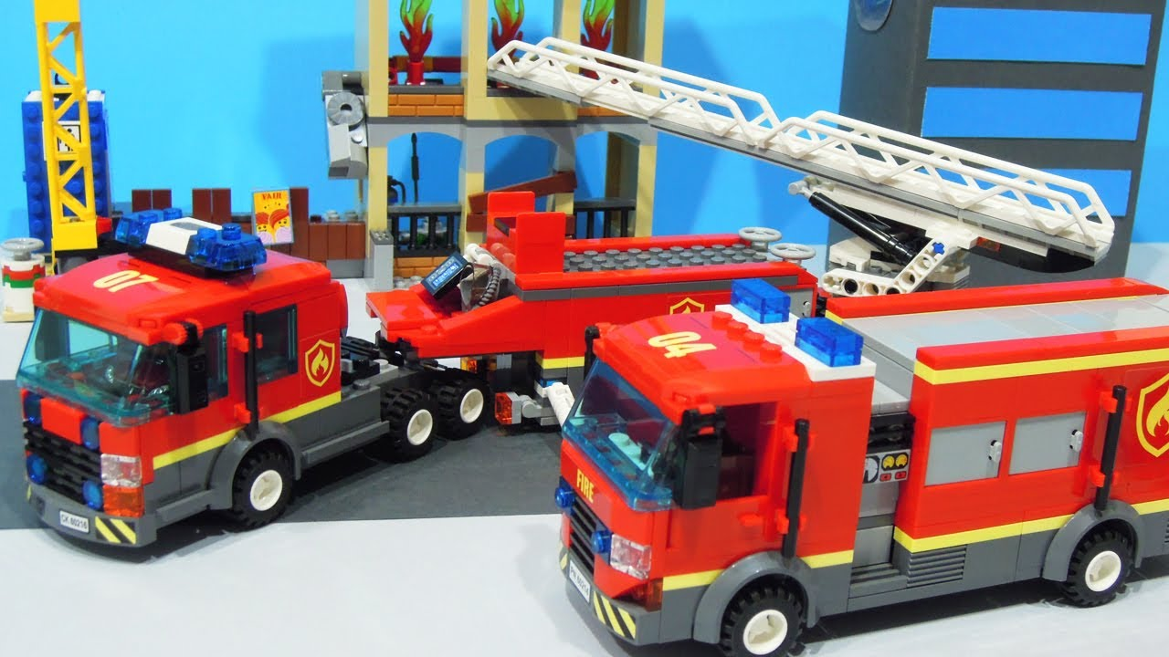 Lego City : Fire Rescue Team! - StopMotion