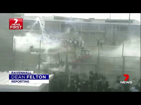 Seven News. Exclusive Government Footage Of Detention Riot In Victoria.