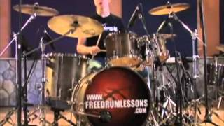 funk drum lesson.Джеред Фолк. урок фанка на ударных.
