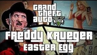 GTA 5: EASTER EGG- FREDDY KRUEGER O EL ASESINO DE LA MADRE DE CJ? [GTA V]