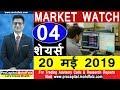 MARKET WATCH 20 मई 2019 - 04 शेयर्स | best stock market strategies |