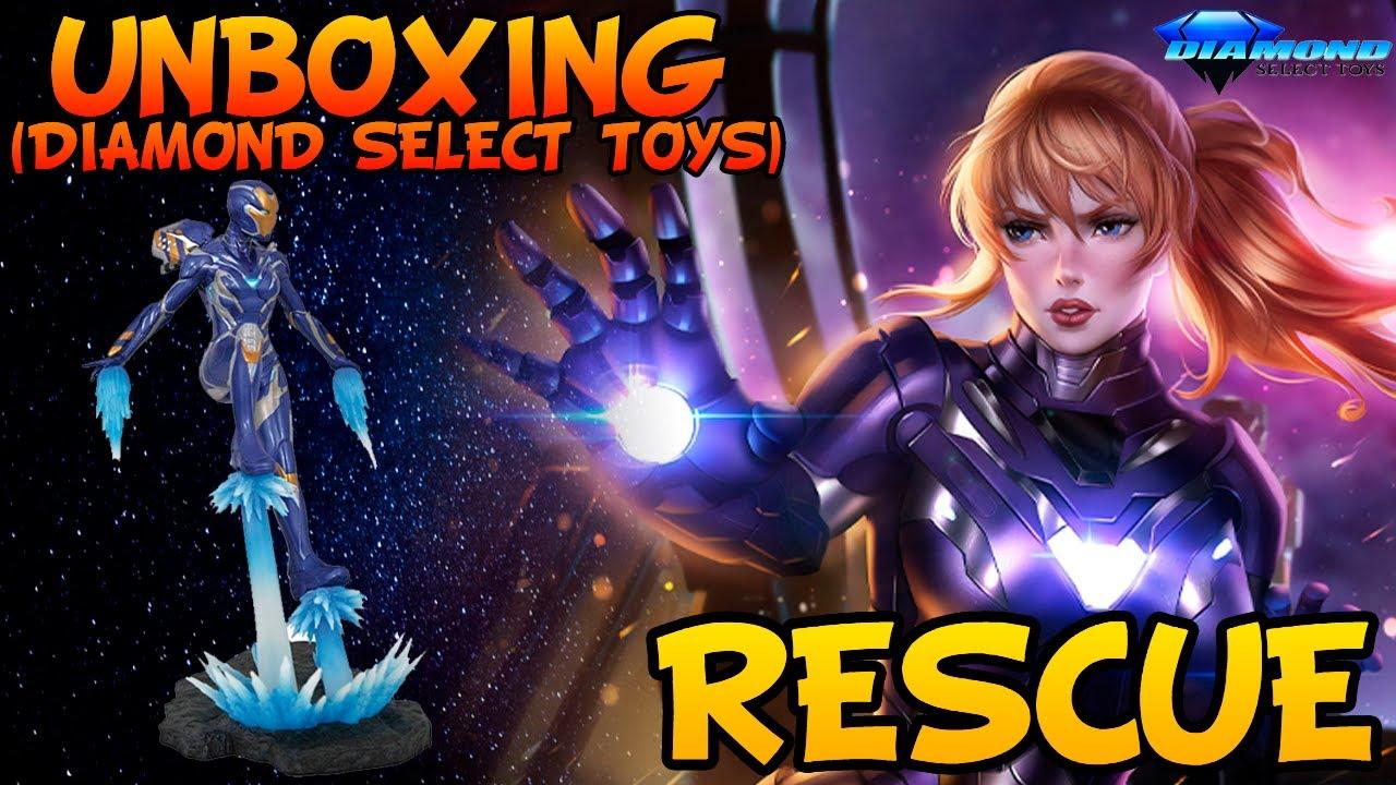 RESCUE Gallery Diamond Select Toys Unboxing  (Vengadores Endgame)