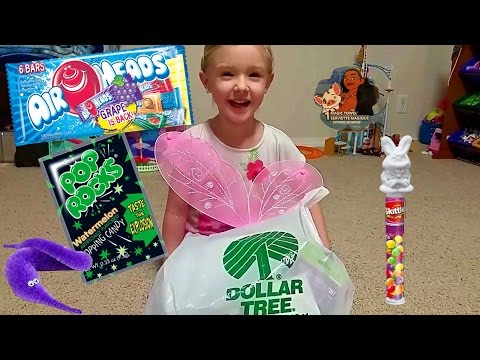 Dollar Tree Store Haul | Moana Magic Towel, $1 Toys, Tricky Worm And Easter Candy Cheap Goodie Bag