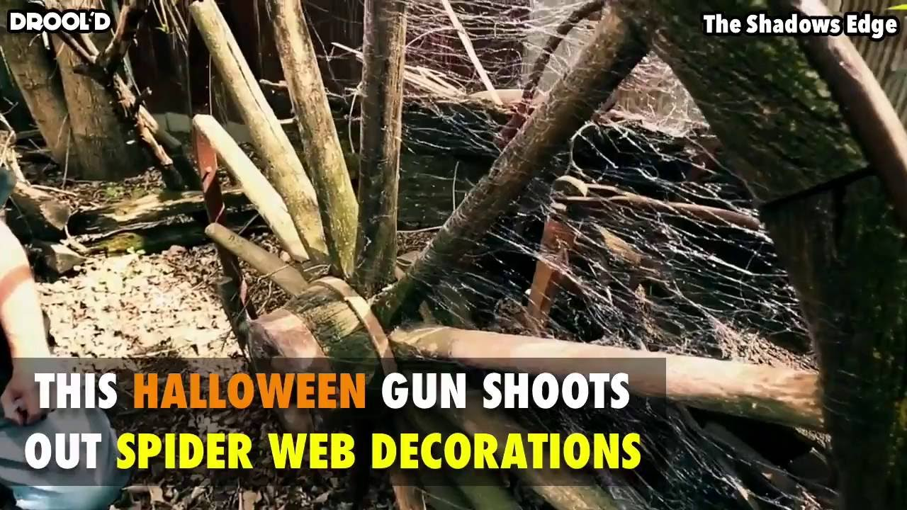 this halloween gun shoots out spider web decorations