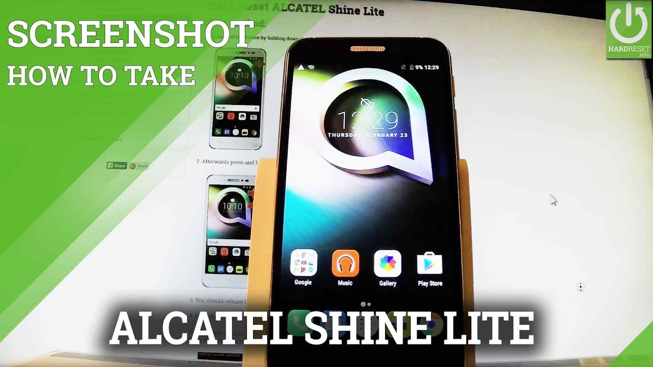 How to take screenshot in ALCATEL Optus X Smart - HardReset info
