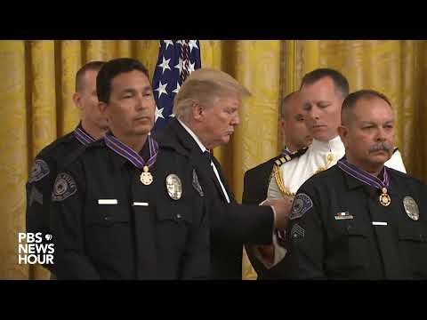 WATCH LIVE: Trump presents the Public Safety Officer Medal of Valor