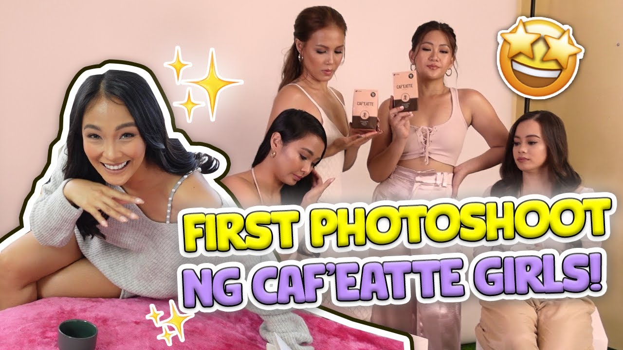 FIRST PHOTOSHOOT NG CAF'EATTE GIRLS! | BenLy