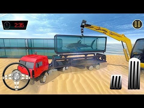 Sea Animals Cargo Transporter Truck (by Entertainment Riders) Android Gameplay #2 [HD]