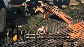 Dark Souls: Bell Gargoyles Boss Fight - Gameplay Movie (PS3)