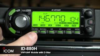 ID-880H - The D-STAR Compatible Mobile Companion of the IC-80AD Handheld