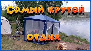 Трёхдневный отдых и рыбалка с друзьями на Двуреченском водохранилище Готовим бобра Жарим леща