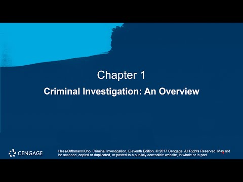 Chapter 01 Lecture On Criminal Investigation An Overview