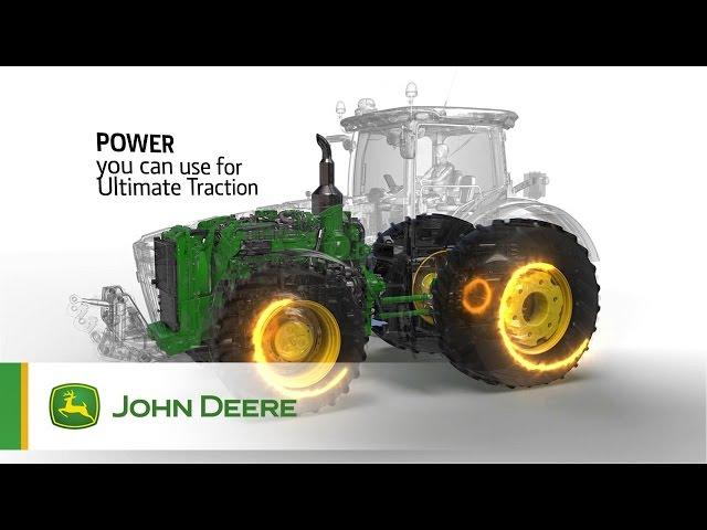 Tracteurs John Deere 7R/8R - performance exceptionnelle