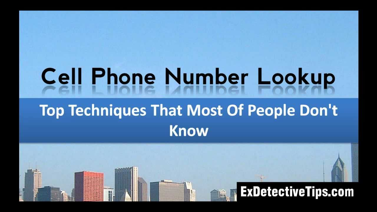 Cell Phone Number Lookup - Top Techniques by ExDetective ...
