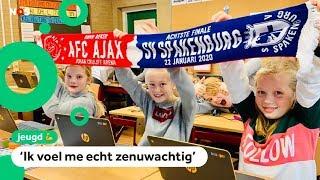 Fans van amateurclub Spakenburg klaar voor Ajax
