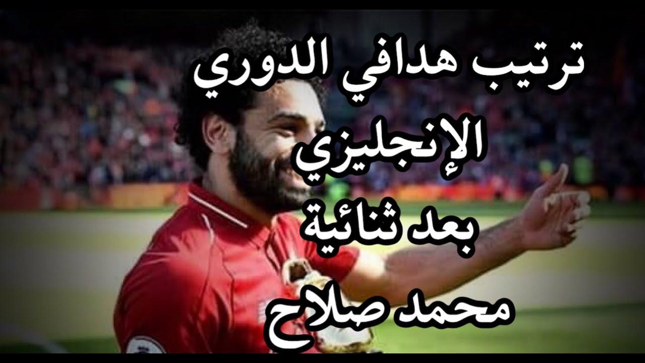 ترتيب هدافي الدوري الإنجليزي 2020 ..بعد ثنائية محمد صلاح ...
