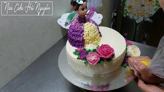 Trang Trí Bánh Sinh Nhật Búp Bê Cực Cute - How to Decorate Barbie Doll Cake