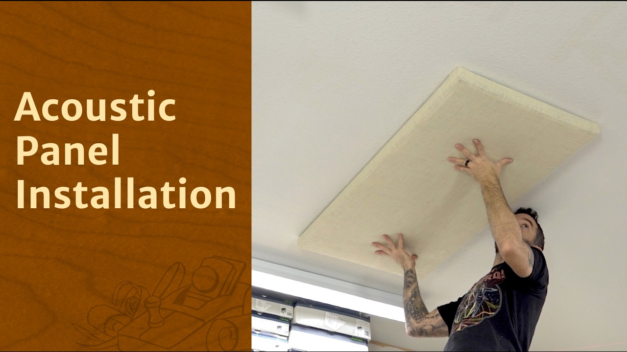 Acoustic Panel Installation Youtube