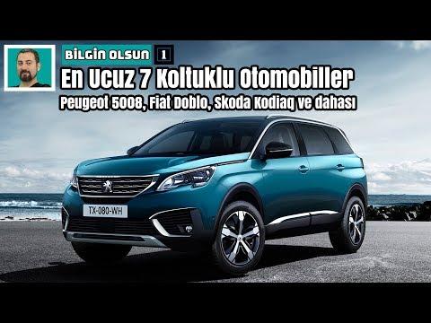 En Ucuz 7 Koltuklu Otomobiller | Peugeot 5008, Fiat Doblo, Skoda Kodiaq | Bilgin Olsun