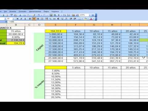 Excel préstamos Funciones financieras ( trucos de excel ) Tablas de YouTube · Duración:  10 minutos 36 segundos