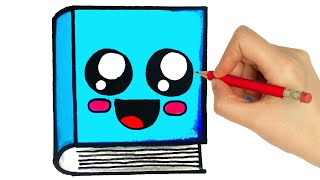 HOW TO DRAW A CUTE BOOK