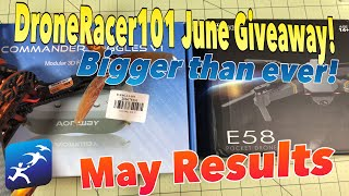 DroneRacer June 2018 Giveaway! Aomway Commander Stretch Goals and More!