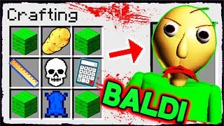 Minecraft Baldi How to Summon BALDI in a Crafting Table