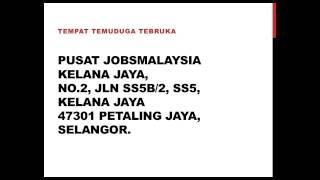 Temuduga Terbuka POS Malaysia di Kelana Jaya